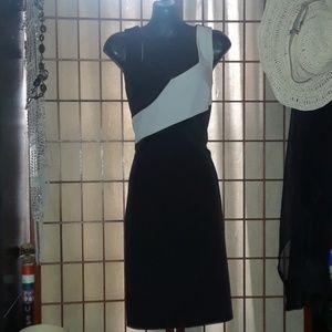 Sleeveless Black & White Dress